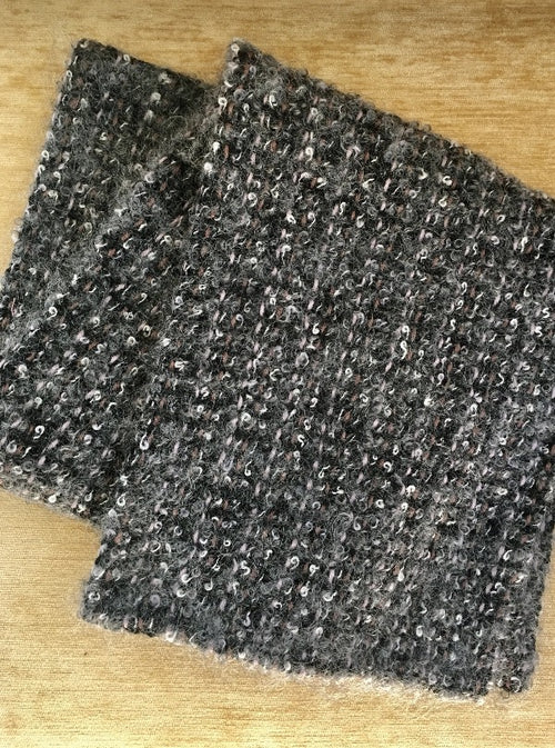 Handwoven Scarf, Grey Scale