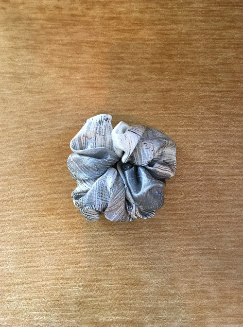 Silk Scrunchie, brush print