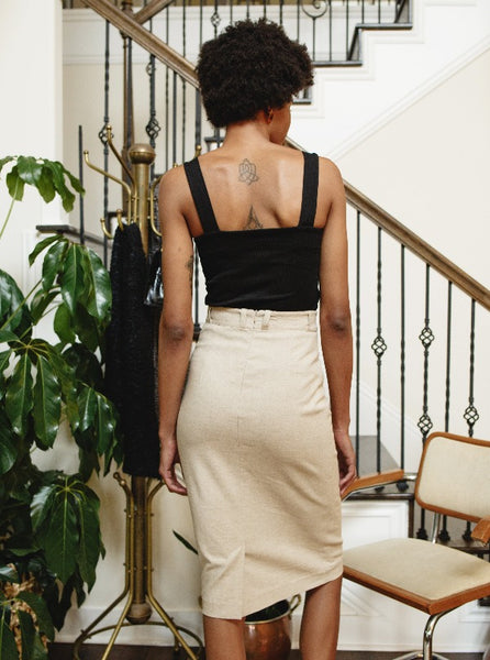 Sustainable Linen Skirt Ethically Made in Austin