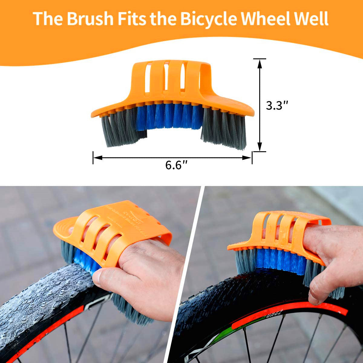 Smaman Precision Bicycle Cleaning Brush Tool Set, Including Bike Chain Scrubber Road Fit for Mountain City Hybrid,MTB,BMX Bike and Folding Bike, 8 Pieces Kit