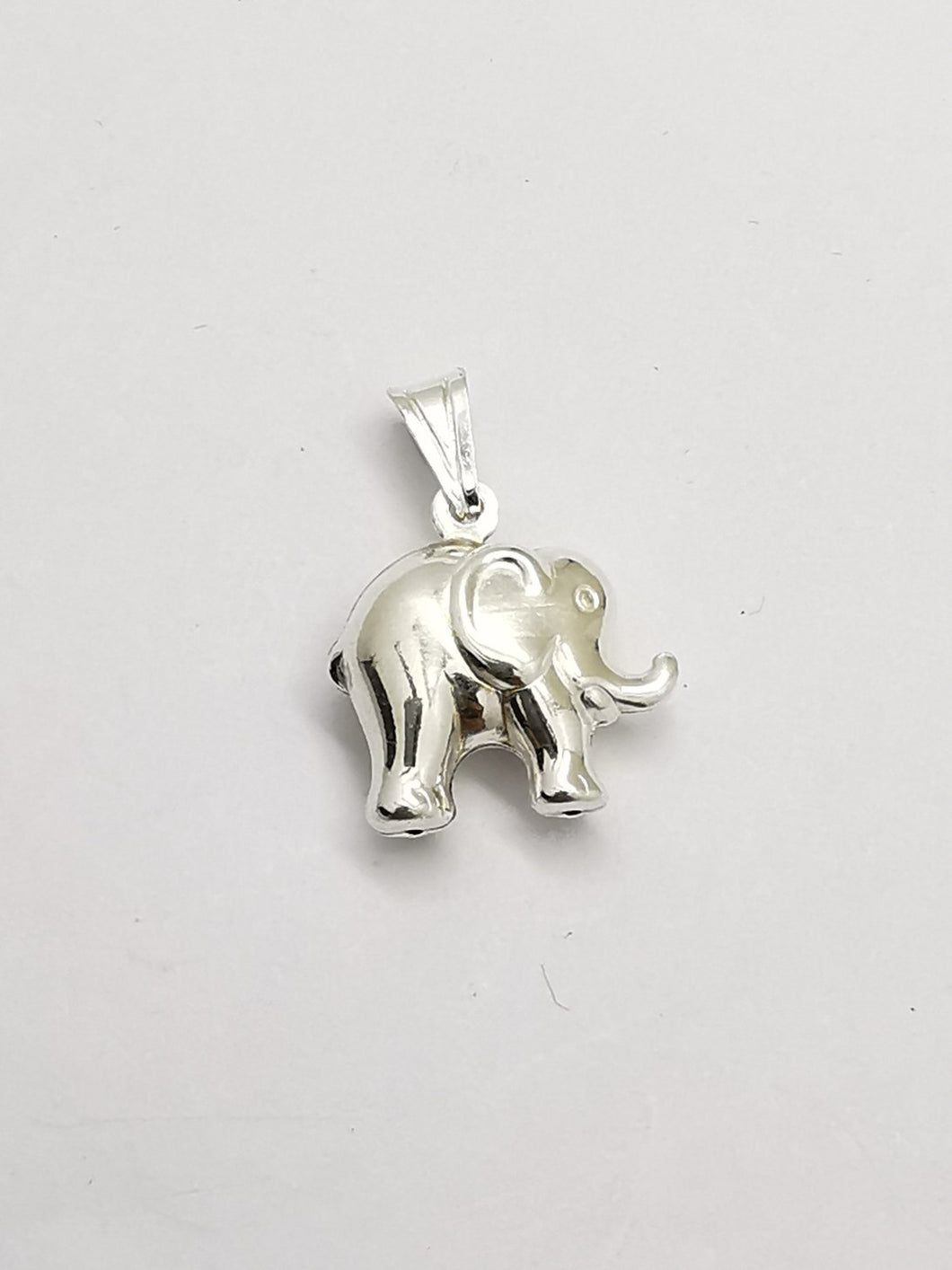 Silver elephant locket