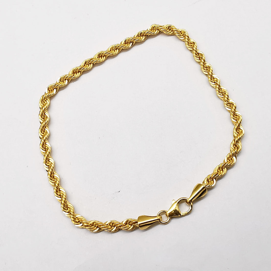 Rope bracelet in 21k gold