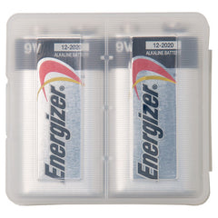 9V Battery Clear Protective Plastic Hard Safety Case - 3 Pack