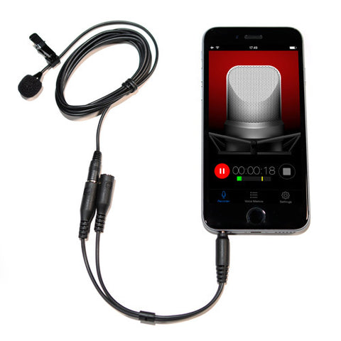 Picture of HQ-SPK Stereo Lavalier Microphone Kit for iPhone iPad iPod Touch and Android Devices