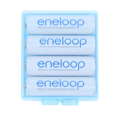 Picture of AA/AAA Battery Storage  Clear Hard Case Box - 3 Pack (Blue)