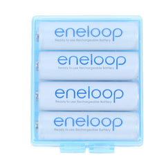 AA/AAA Battery Storage  Clear Hard Case Box - 3 Pack (Blue)