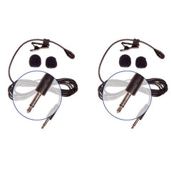 HQ-M - 2 Pack Mono Lav Mics