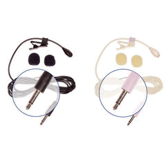 HQ-M - 2 Pack Mono Lav Mics (1 Black and 1 Beige)