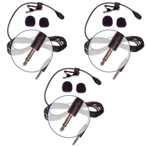 Picture of HQ-M - 3 Pack Mono Lav Mics