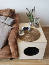 Load image into Gallery viewer, Wooden dog house - design dog bed