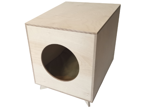 Wooden dog house - design dog bed