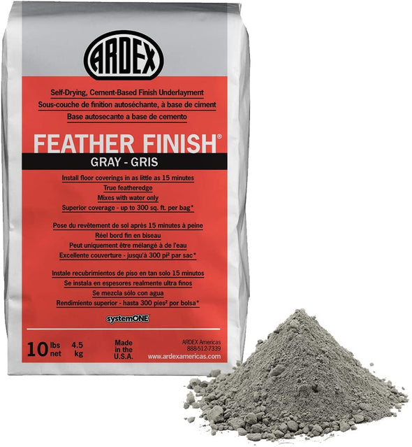 CIMENT DE FINITION ARDEX FEATHER FINISH GRIS 10LBS (200-250PC)
