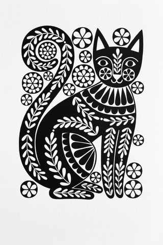 'Black cat' print by Karoline Rerrie