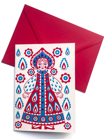 'Russian doll' card by Karoline Rerrie