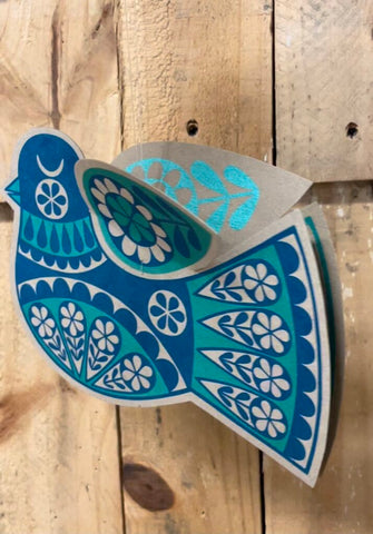 'Blue bird' 3D decoration by Karoline Rerrie