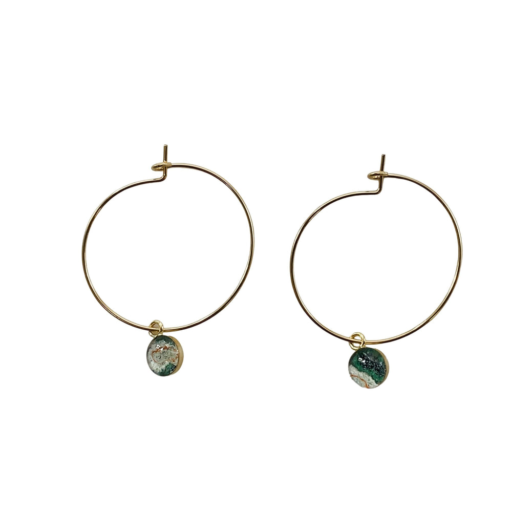 Monique Hoop Earrings – Gold