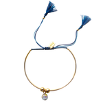 Bianca Bracelet - Navy/Light Blue - Gold