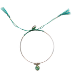 Bianca Bracelet – Teal/Light Green - Silver