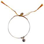 Bianca Bracelet – Orange/Yellow - Silver