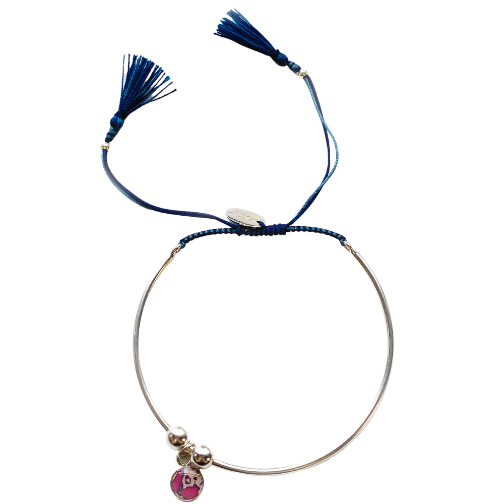Bianca Bracelet - Navy/Light Blue - Silver