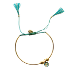 Bianca Bracelet - Teal/Light Green - Gold