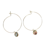 Monique Hoop Earrings – Silver