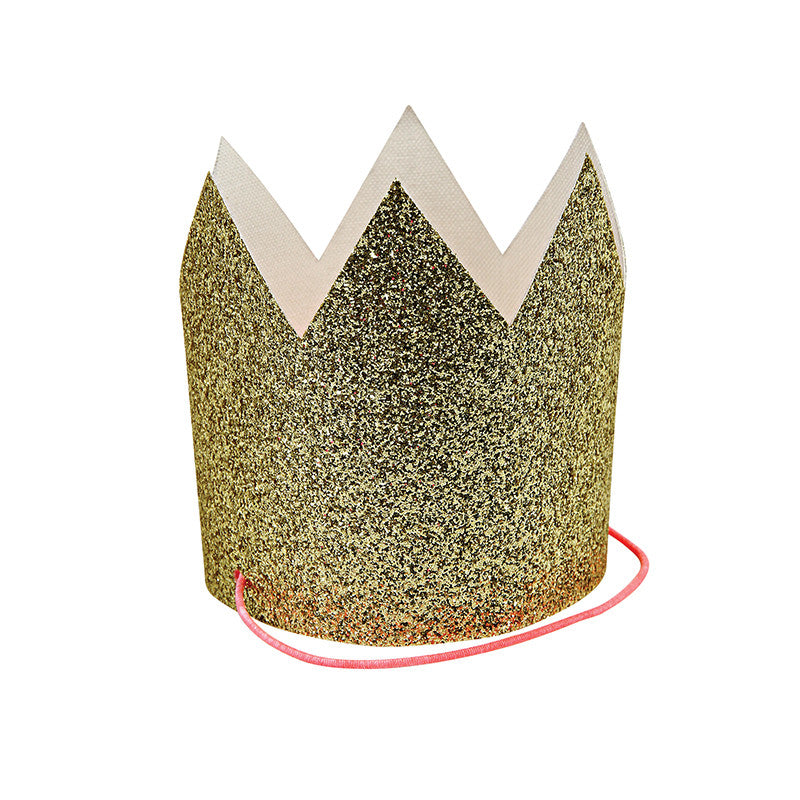Meri Meri Gold Glittered Crowns