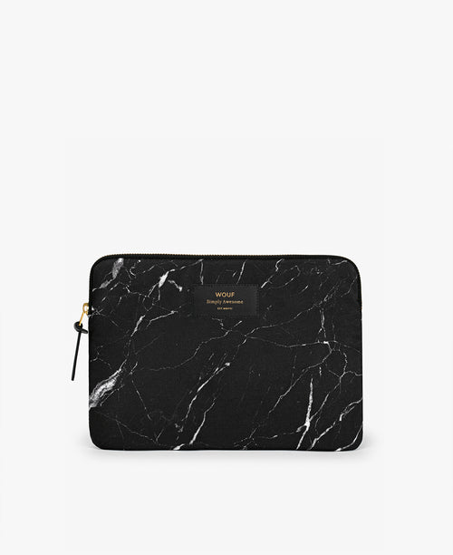 Wouf Black Marble iPad Sleeve
