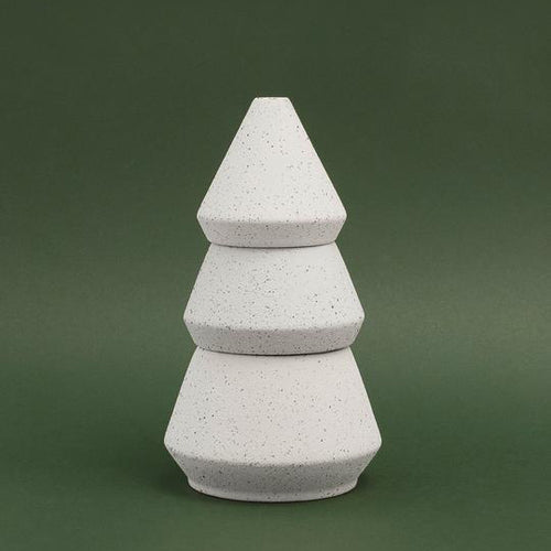 Paddywax Cypress & Fir Ceramic - Tree Stack - 16oz - White