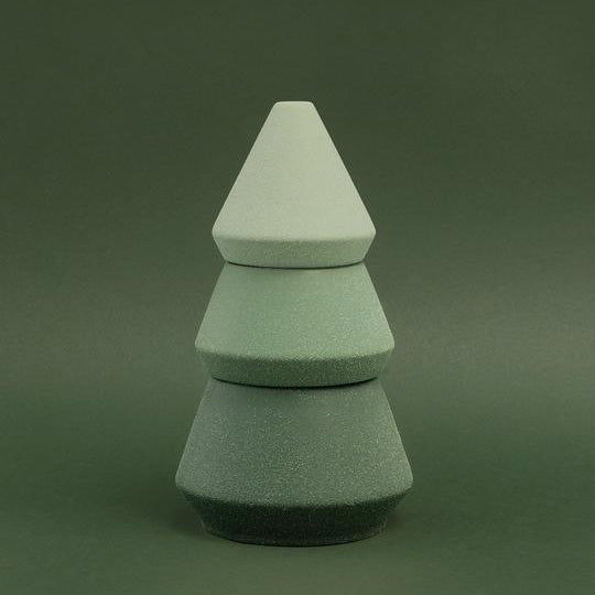 Paddywax Cypress & Fir Ceramic - Tree Stack - 16oz - Green Ombre Speckled