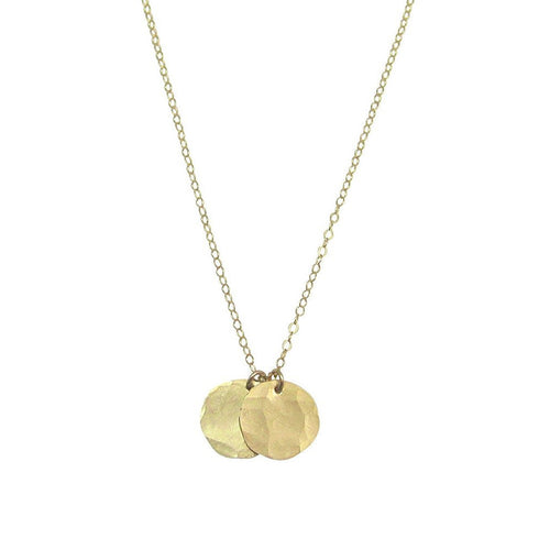 Misuzi Double Hammered Disc Necklace