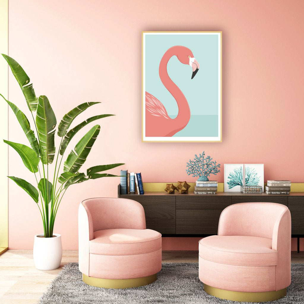 Hansby Design Art Print Flamingo