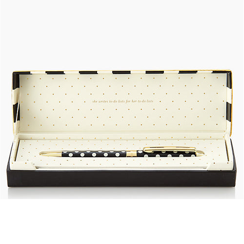 Kate Spade Black and Gold Ballpoint Pen