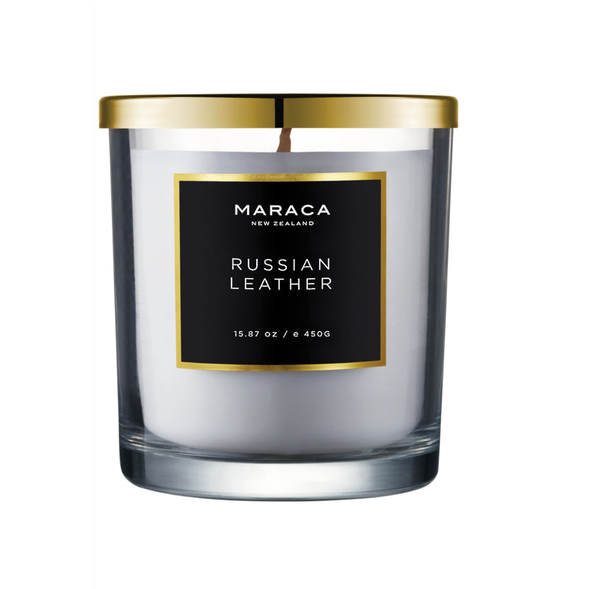 Maraca Luxury Candle - Russian Leather