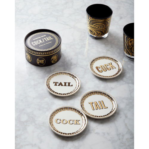 Jonathan Adler Cock/Tail Coasters