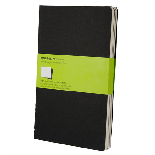 Moleskine Cahier Set of 3 Plain Large