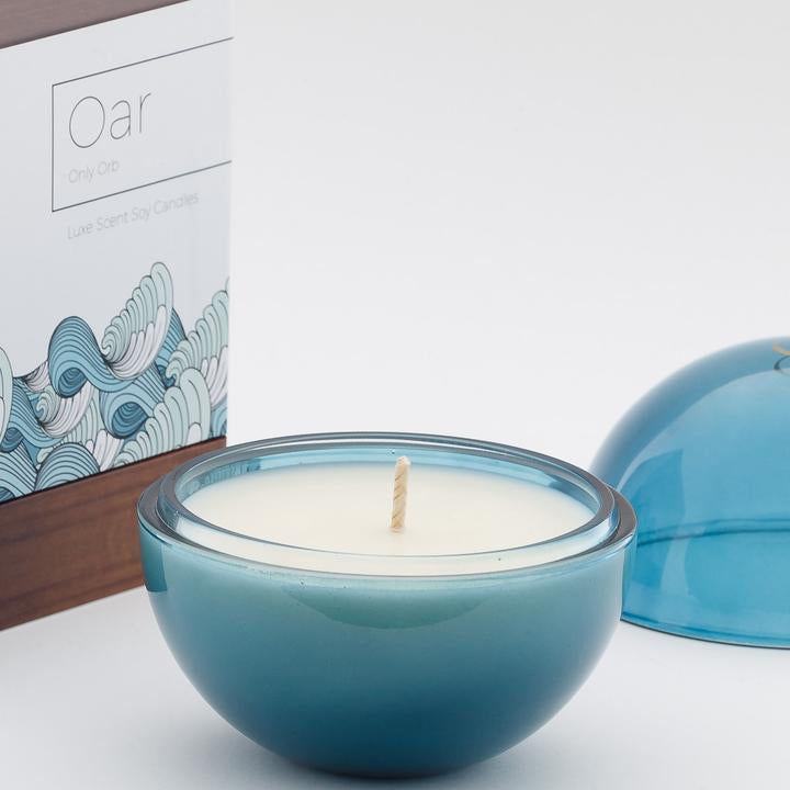 Only Orb Glass Azure - Oar Candle