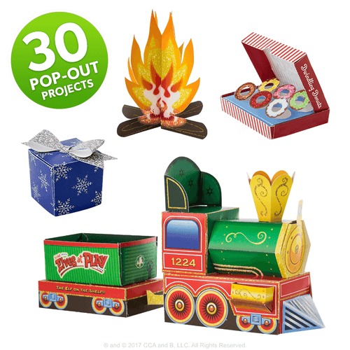 Scout Elves at Play Paper Crafts Set