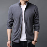 New Fashion Wind Breaker Jackets Mens Warm Cardigan High Street Trend Overcoat Autumn College Style Casual Coat Men Clothing