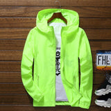 Men Waterproof Wind Breaker Coat Zipper Hoodie Jacket Quick Drying Sport Outwear A66