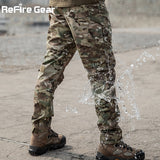 ReFire Gear Camouflage Military Pants Men Multi Pocket Wearable Tactical Combat Pant Army  Waterproof SWAT Special Cargo Trouser