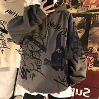 Hong Kong wind autumn and winter models of men's hoodies chao Korean version of loose men's plush jacket clothes