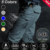 IX7 Military Tactical Waterproof Charge Pants Cargo Pants Men Breathable SWAT Army Solid Color Combat Trousers Mens Work Joggers
