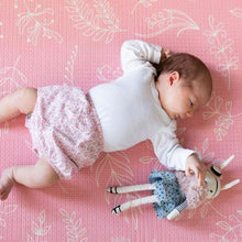 Load image into Gallery viewer, Jamesy Playmat - Round Pink Floral / Charcoal-Playmats-Hello Bub Hub