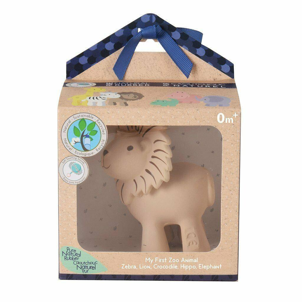 Tikiri Natural Rubber Rattle - Lion-Hello Bub Hub
