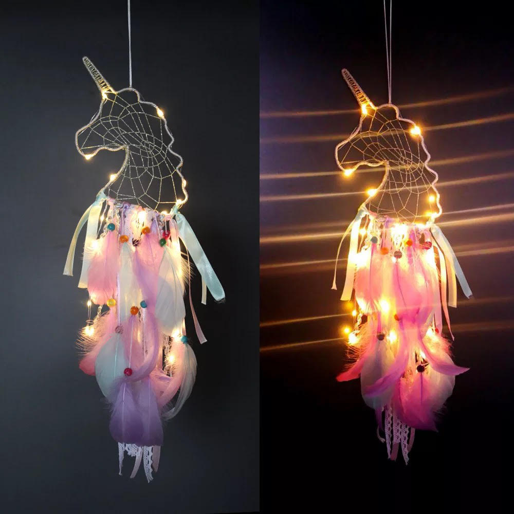 Exclusive Unicorn Dream Catcher with LED Lights