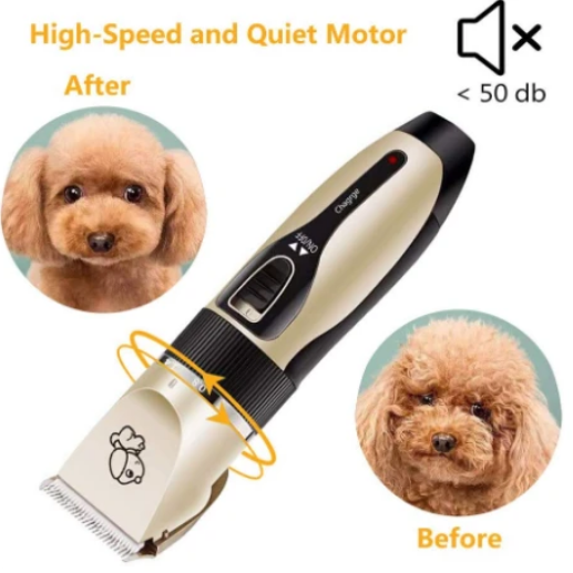 CleanPet Silent Dog Clippers Rechargeable Grooming Kit for Dogs and Cats