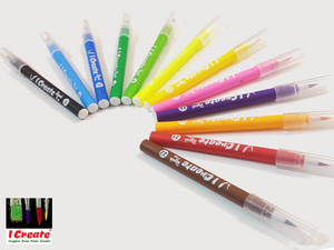 Watercolour Brush Pens - 12 Pack