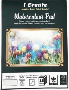 9x12 Watercolour Pad (A4), 300 gsm, Cold Pressed