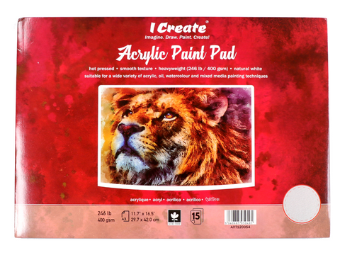 A3 Acrylic Paint Pad - 400 gsm, Hot Pressed